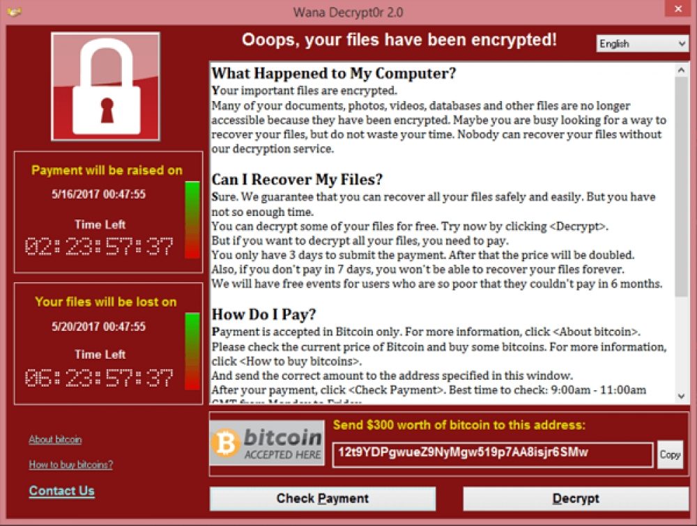 Beware of The WannaCry Ransomware Attack!!